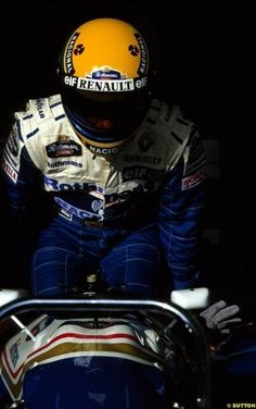 Ayrton Senna entering the Williams FW16 in Imola, for the last time...R.I.P.