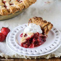 Berry Rhubarb Pie Recipe - RecipeChart.com