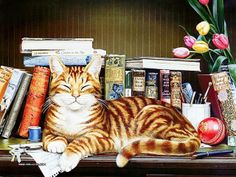 Charles Wysocki's cats  They are my favorite cats.  His book is my cheer me up book.