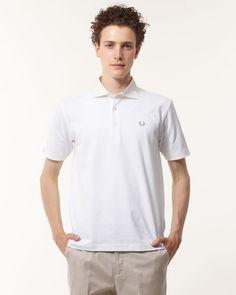 BEAMS TOPS ホワイト カッタウェイポロシャツ