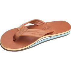 Rainbow Women's Flip Flop - Premier Wide Strap - Tan