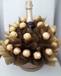 Ferrero Rocher Čokoládová kytica Ferrero šampus
