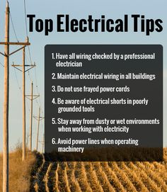 Electrical Safety on the Farm - Even though it is commonly used, it's important to recognize the potential dangers associated with electricity. Casual use of electricity often leads to accidents, sometimes fatal.