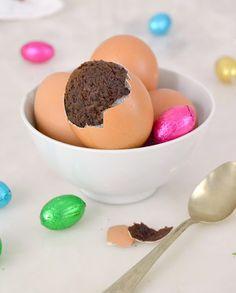 Brownies de Pascua, en cáscara de huevo.