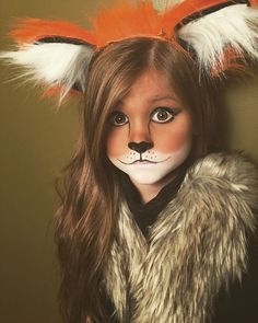 Cute and easy little girl fox Halloween makeup