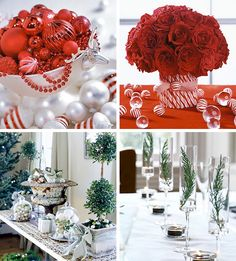 Christmas centerpieces and table ideas