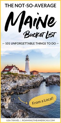 101 Unforgettable Things to Do in Maine Looking for some incredible things to do in Maine? While this isn't exactly a list of the best things to do in Maine (because we all have our own version of East Coast Travel, East Coast Road Trip, Vacation Ideas, Vacation Spots, Places To Travel, Travel Destinations, Places To Visit, Maine Road Trip, Road Trips