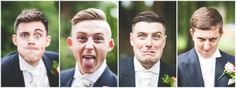 Funny faces from the groomsmen. Photography by Rebecca Tovey assisting Studio Rouge wedding. www.weddingphotographytolove.com