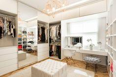 Luxury Closet Design & High End Closet Systems Walk In Closet Design, Bedroom Closet Design, Master Bedroom Closet, Closet Designs, Closet Vanity, Closet Doors, Wardrobe Room, Dressing Room Design, Dressing Rooms
