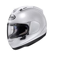 #Arai #RX-7V White Motorbike Helmet. Buy yours: https://www.helmade.com/en/arai-rx-7v-white-motorbike-integral-helmet.html