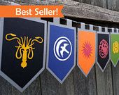 House Sigils Game of Thrones Inspired Banner