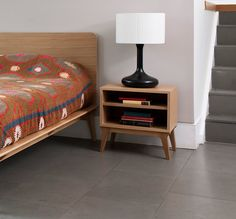 Raised up from the ground, the Valentine Bedside Table creates a feeling of space by keeping sight lines around the room clear.