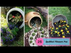 25 Most Beautiful Spilled Flower Pot – The Art Of Gardening – Gardening, Vegtables, Fruits & Flowers Strawberry Plants, Flower Pots, Plant Display Ideas, Plant Pot Diy, Strawberry Planters, Creative Garden Decor, Flowers, Garden Planning, Fun Garden Projects