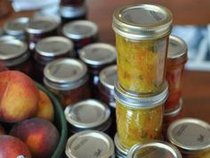 Yellow tomato and basil jam-this is so yummy!  Perfect spread for crackers & cheese!