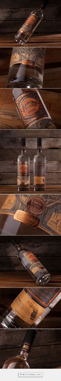 Banyan Reserve #Vodka #packaging designed by Dunn&Co.​ - http://www.packagingoftheworld.com/2015/07/banyan-reserve-vodka.html