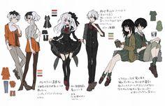 Ghoul fans XD kaneki-Kun female/male form #blackhairwhitehairblackwhitehair