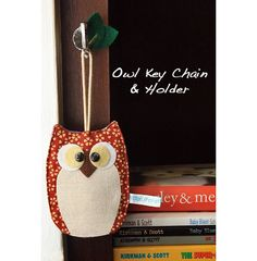 Sewing: Owl Key Chain Holder {Free Pattern & Tutorial} I'm thinking of making ornaments from this pattern