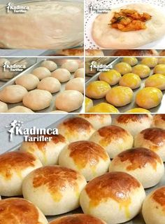 Patatesli Pamuk Poğaça Tarifi Cute Food, Yummy Food, Turkish Sweets, Turkish Kitchen, Puff Pastry Recipes, Turkish Recipes, Breakfast Bowls, No Cook Meals, Bakery
