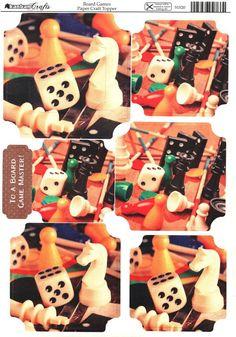 Kanban Interests and Hobbies - Board Games - die cut paper craft toppers