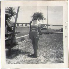 Vintage Vacation Photo, Vintage Photo of Woman, Found Photo, Vacation Photo, Photograph of Woman, Black and White Photo, Paper Ephemera by lucyandfaye on Etsy