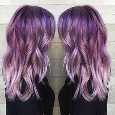violet hair ombre purple on Instagram