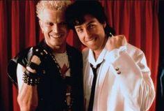 Billy idol and Adam sander. Wedding singer