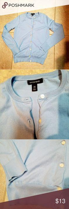 Lands' End cotton & nylon cadigan Soft, plush cotton sweater. Lands' End Sweaters Cardigans