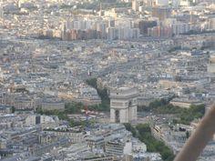 Paris vista do alto da Torre Eiffel.Verão, 2010