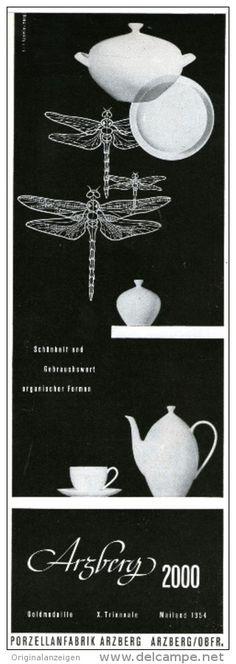 Original-Werbung/Anzeige 1957 - ARZBERG 2000 DEKOR  PORZELLAN ca. 80 x 230 mm