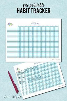 Habit Tracker – Laura & # s Crafty Life – TOP 5 Habit Building Tips Budget Planner, Life Planner, Happy Planner, Goals Planner, Planner Ideas, Printable Planner, Planner Stickers, Free Printables, Roterfaden