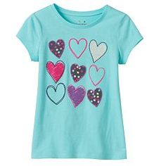 Girls 4-8 Jumping Beans® Applique Graphic Tee
