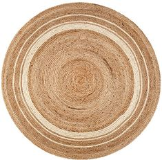 Protect your floors with the Kerala Area Rug from Anji Mountain. This throw rug is made of a braided jute with a natural appeal and has colorful concentric circles. Natural Fiber Rugs, Natural Area Rugs, 3d Design, Kerala, Circular Rugs, Round Area Rugs, Jute Rug, Woven Rug, Indoor Rugs