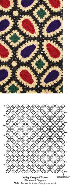 Crochet motif throw pattern free