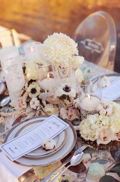 gorgeous pearl romantic reception wedding flowers,  wedding decor, wedding flower centerpiece, wedding flower arrangement,
