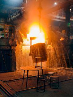 MM Iron casting ware on Behance Industrial Design Furniture, Furniture Design, It Cast, Scene, Iron, Metal, Interior, Outdoor Decor, Behance