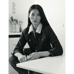 Liu Wen by Benjamin Alexander Huseby for Dazed Confused December 2012 ❤ liked on Polyvore featuring liu wen and people