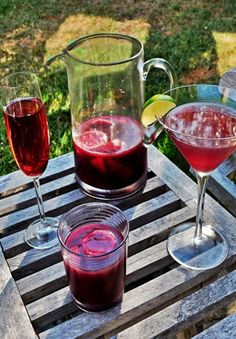 Sangria:  1 (750 ml) bottle Chianti  2 cups orange juice  1/2 cup La Pinta pomegranate tequila  1 peach, chopped  2 plums, chopped  1 cup pitted fresh or frozen cherries  1 lemon, sliced