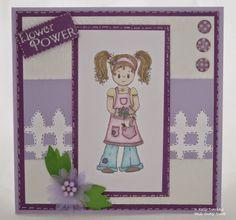 Rose Garden Abi - Card made using Rose Garden Abi clear stamp