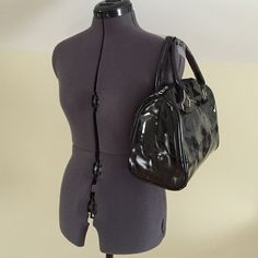 """Black Jelly  bag Perfect for any season.  Black semi transparent PU.  Black zipper and silver hardware.  Piping is black.  Medium sized bag.  Comes with black zipped PU (pictured) bag inside to hide what you don't want seen (7.25 x 5.25"""").  New in packaging.  Will ship with paper inside to maintain shape. Bags Satchels"""