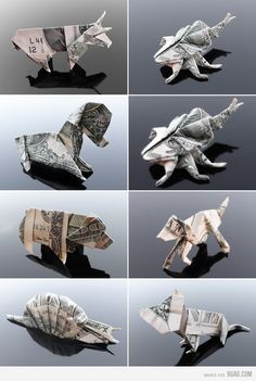 Look at all the cool things you can do with a dollar bill...I wish I could do that