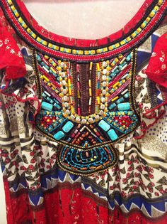 **SOLD**Close up of embroidery and beading