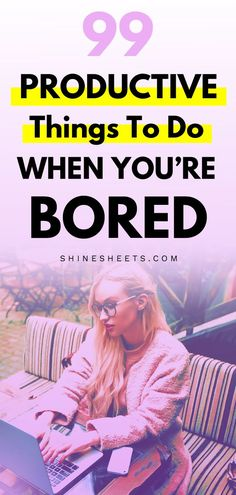 Get 99 productivity ideas for those days when youre bored to the bone Productivity tips How to stay productive Productive things to do Productivity hacks Productive hab. Productive Things To Do, Things To Do When Bored, Things To Do At Home, Productive Day, Self Development, Personal Development, Productivity Quotes, Increase Productivity, Negative Self Talk