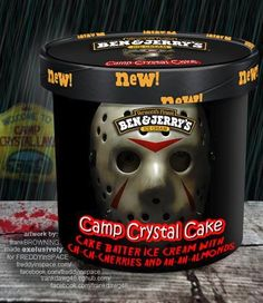 'Human Centi-Peach,' 'Camp Crystal Cake,' and other horror movie-inspired Ben and Jerry's flavors Horror Movie Characters, Horror Films, Horror Icons, Flipper, Crystal Cake, Funny Horror, Scary Funny, Hilarious, Ice Cream Flavors