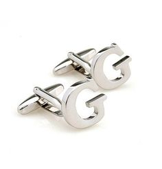 Initial Cufflinks (Alphabet Letter) by Men's Collections (G) |  Read more at http://www.arifirst.com/2013/07/01/initial-cufflinks-alphabet-letter-by-mens-collections-g/