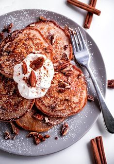 Pecan Spiced Buttermilk Pancakes