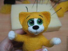 Валяем милого котенка Листика - Ярмарка Мастеров - ручная работа, handmade