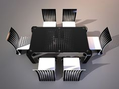 Designed by Svilen Gamolov, this ergonomic modified dining set furniture concept is a new sleek modern dining set furniture that will make your home looks more modern and futuristic with its contrast black and white colors. The Push Table Dining Set is built under a modern sophisticated design, the table certainly brings a futuristic knockout for your guests.