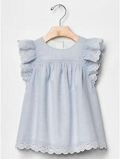 Eyelet flutter dress | Gap