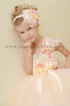 Pink and Peach elegant tutu dress by YourSparkleBox