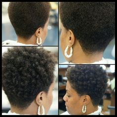 Cut and curl by me (IG: Tapered Natural Hair Cut, Natural Hair Short Cuts, Short Natural Haircuts, Short Afro Hairstyles, Short Hair Cuts, Natural Hair Styles, Tapered Twa Hairstyles, Tapered Afro, Natural Hair Twa